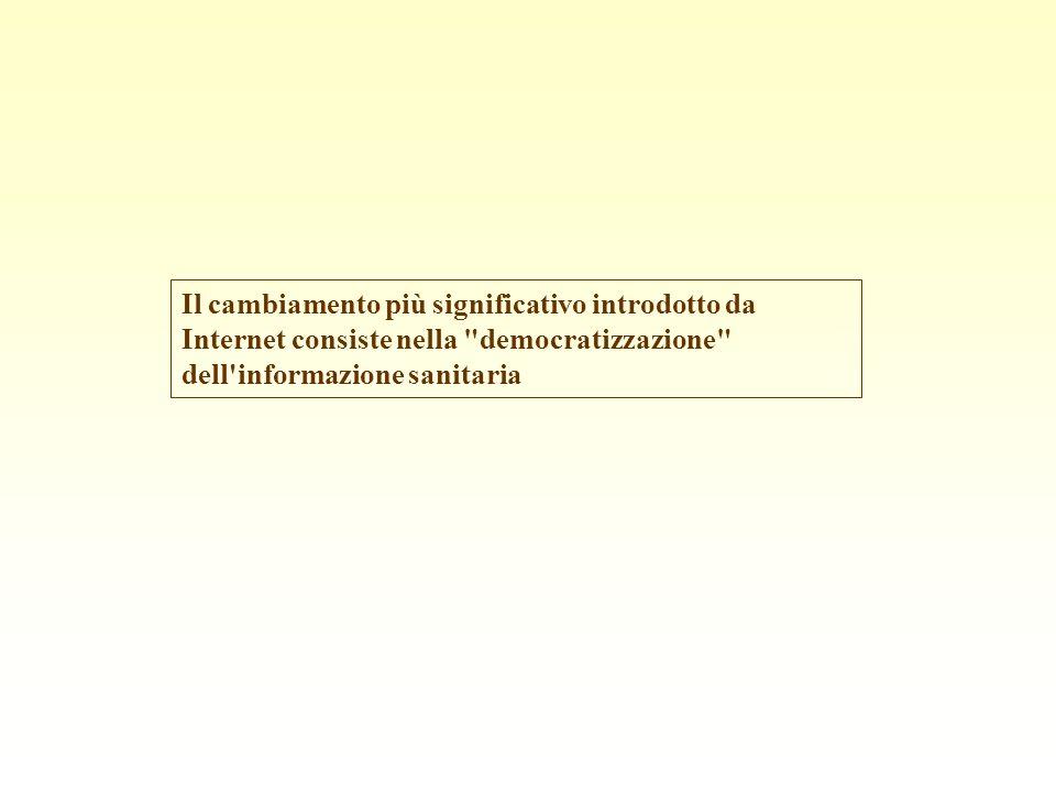 Tuttavia, l informazione disponibile nella rete può anche risultare di qualità scadente, quando non dannosa.