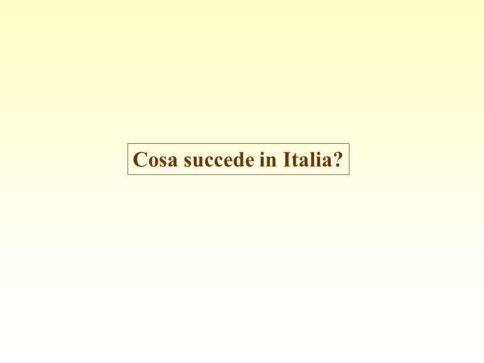 Cosa succede in Italia?