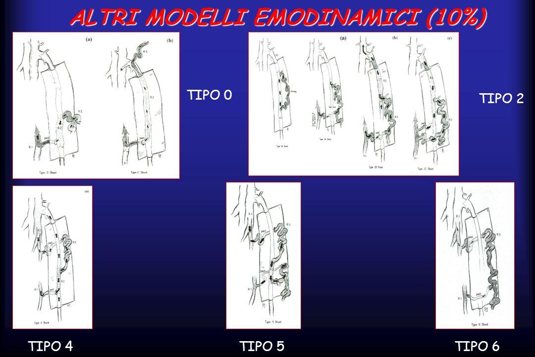 ALTRI MODELLI EMODINAMICI (10%) TIPO 4TIPO 5TIPO 6 TIPO 2 TIPO 0