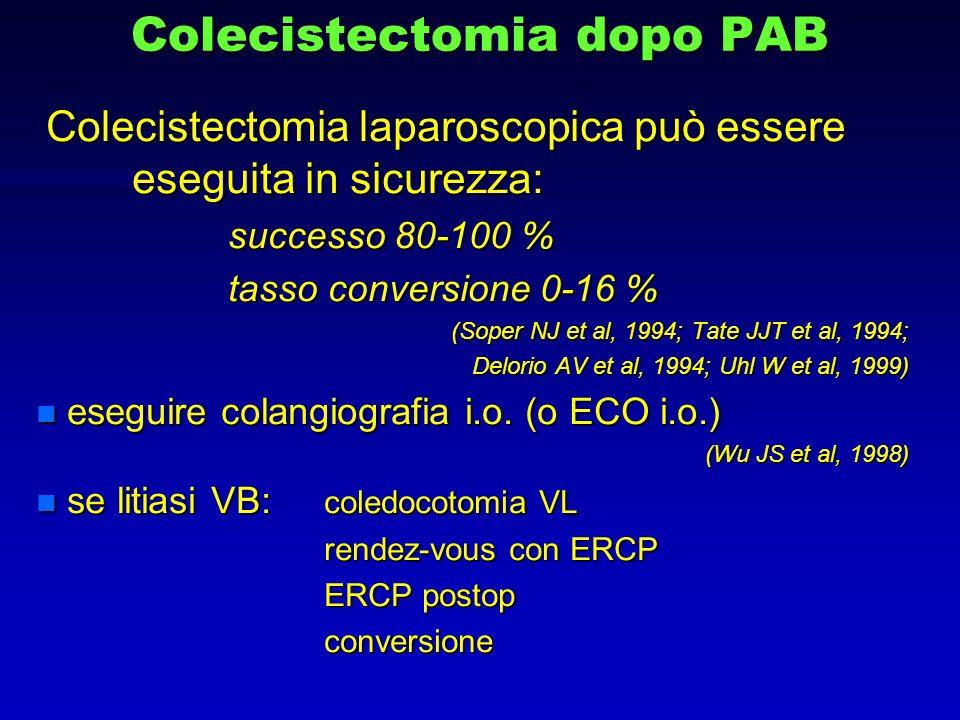 Colecistectomia dopo PAB Colecistectomia laparoscopica può essere eseguita in sicurezza: Colecistectomia laparoscopica può essere eseguita in sicurezz