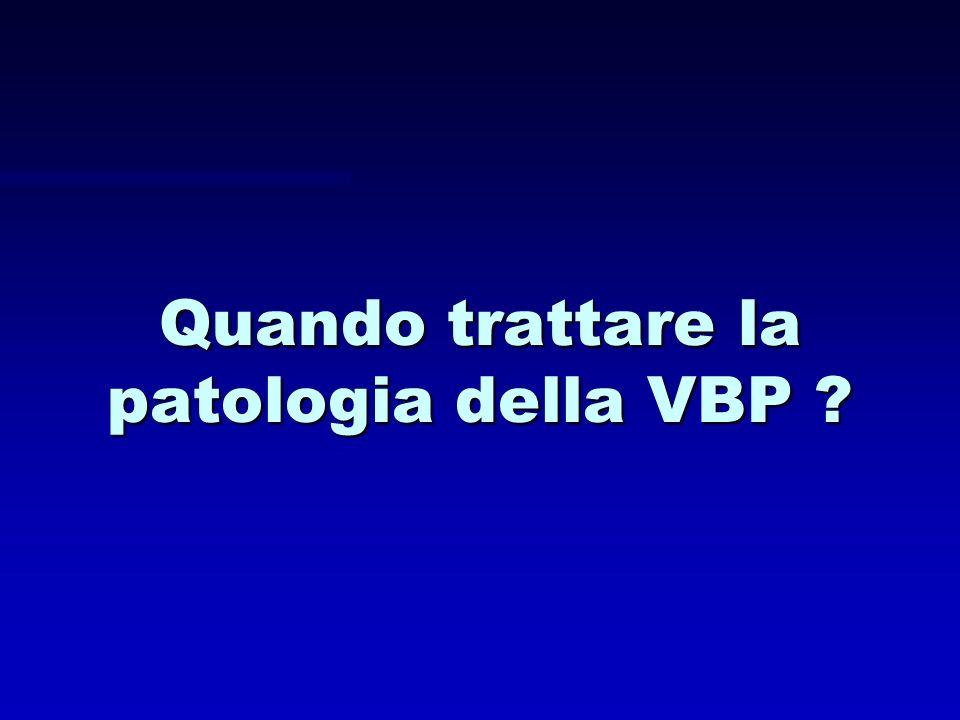 Quando trattare la patologia della VBP ?