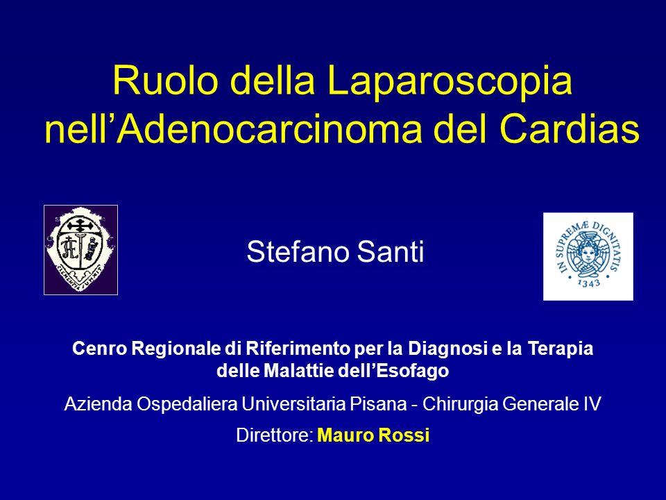 Ruolo della Laparoscopia nellAdenocarcinoma del Cardias Cenro Regionale di Riferimento per la Diagnosi e la Terapia delle Malattie dellEsofago Azienda
