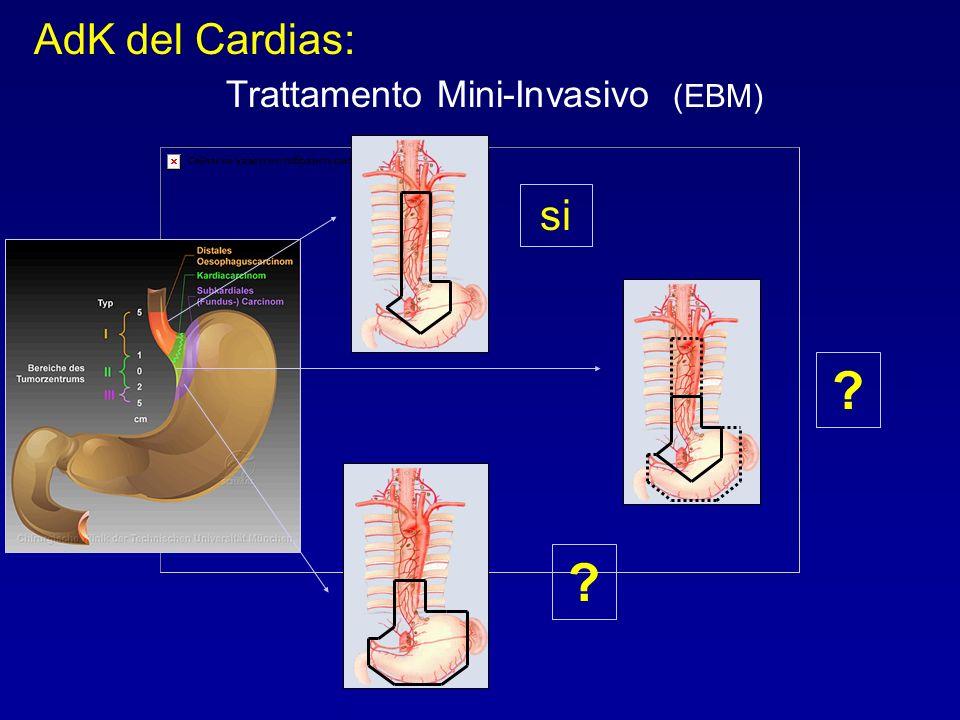 si ? AdK del Cardias: Trattamento Mini-Invasivo (EBM) ?