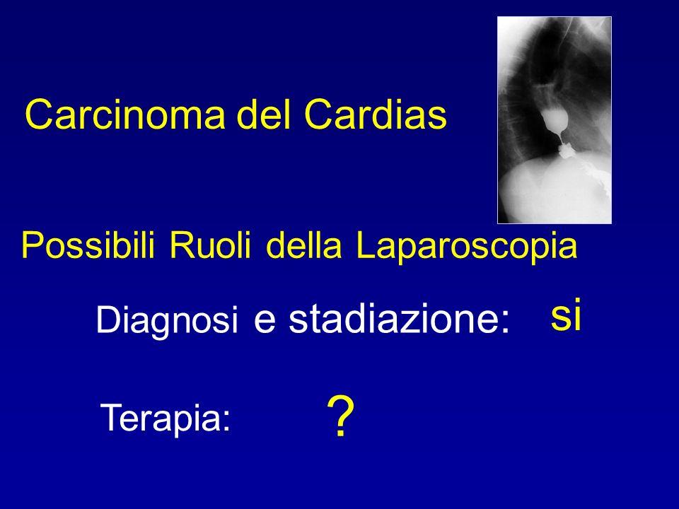 Carcinoma del Cardias Diagnosi e stadiazione: Terapia: Possibili Ruoli della Laparoscopia ? si