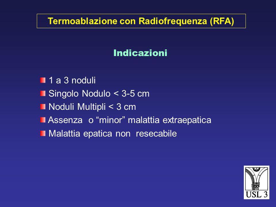 Test funzionalità epatica Markers ETP Rx torace Ecografia epatica Tac addominale e pelvica RMN Ecografia intraoperatoria Valutazione pre ed intraopera
