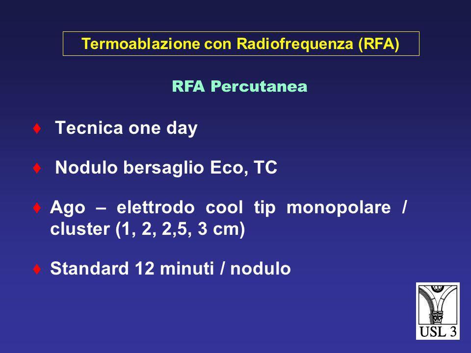Cirrosi scompensata Noduli multipli > 4 cm con Ø > 5 cm Trombosi portale Portatori di pacemaker Dangerous sites (cistifellea, ilo epatico) Controindic