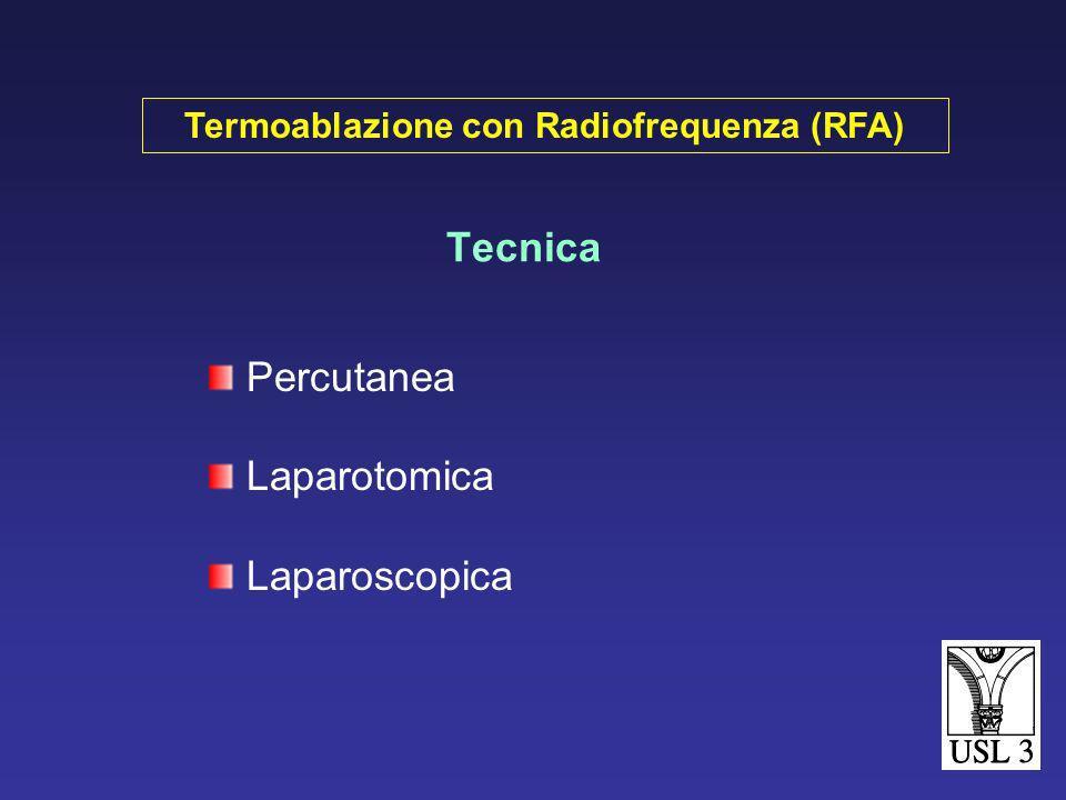 Tecnica Percutanea Laparotomica Laparoscopica Termoablazione con Radiofrequenza (RFA)