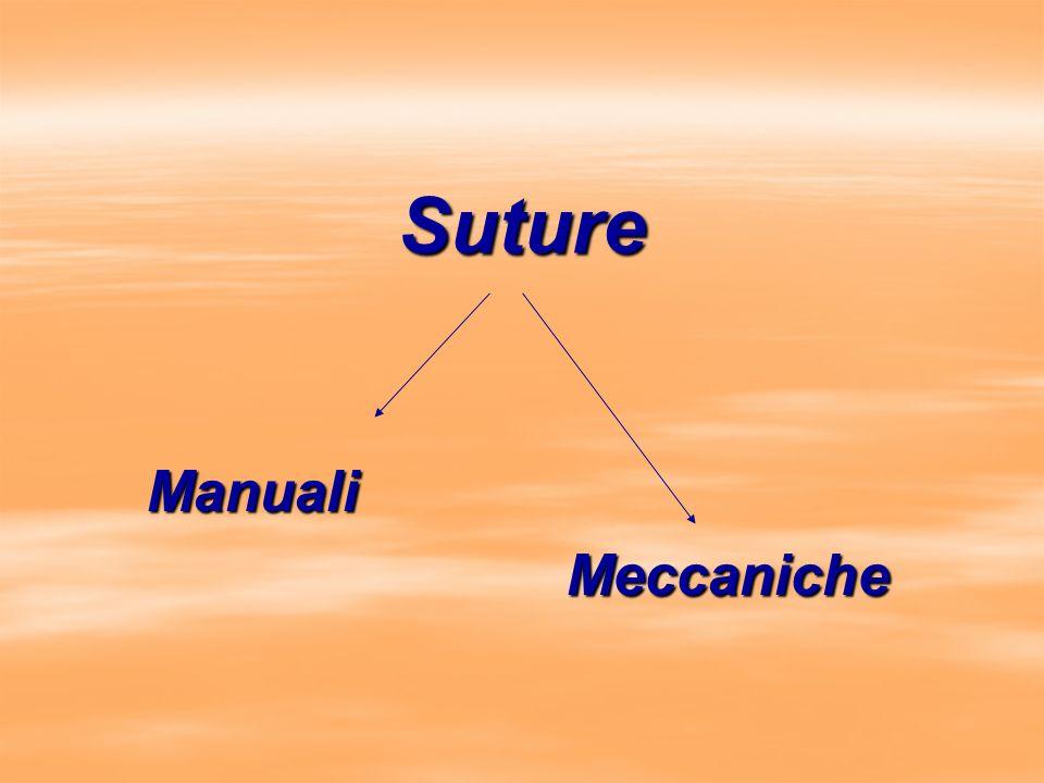Suture Manuali Meccaniche Meccaniche