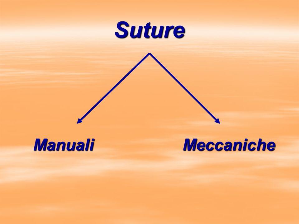 E E A Circolare Applica una doppia fila di punti concentrici con una lama centrale Anastomosi termino/terminali e termino/laterali