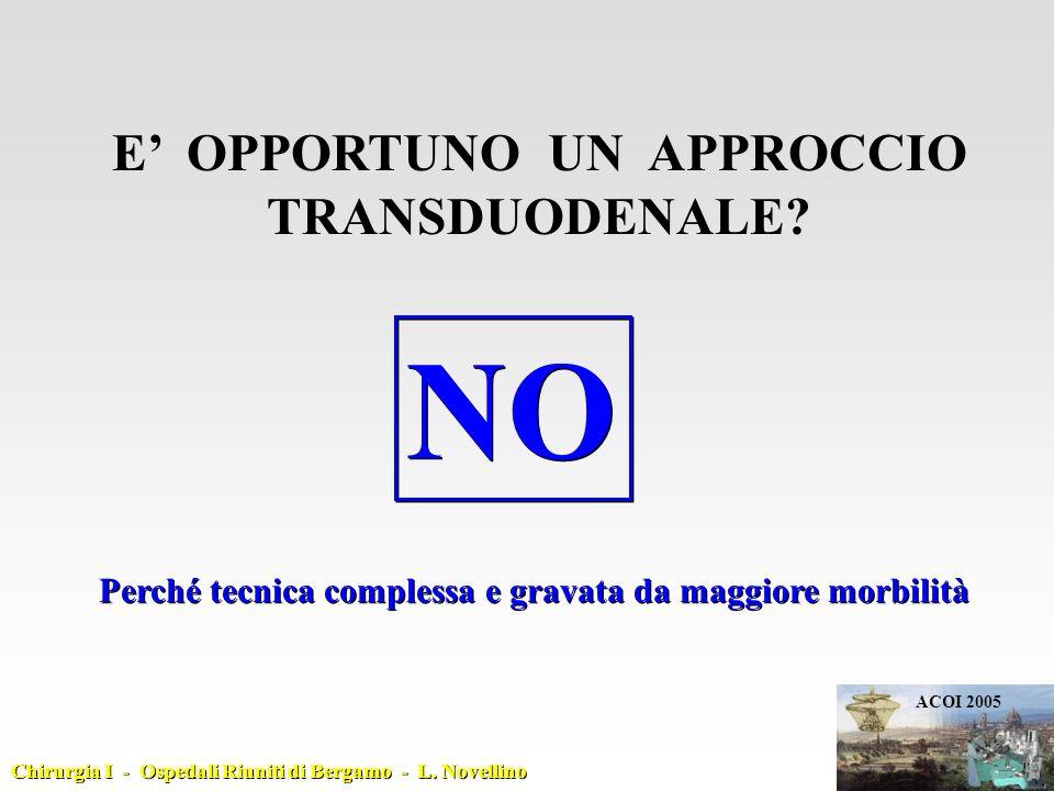 RELAZIONE TERMINATA CHIEDO QUALCHE MINUTO PER DARE SIGNIFICATO ALLA TECNICA CHIEDO QUALCHE MINUTO PER DARE SIGNIFICATO ALLA TECNICA ACOI 2005 Chirurgia I - Ospedali Riuniti di Bergamo - L.