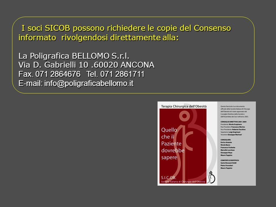 I soci SICOB possono richiedere le copie del Consenso informato rivolgendosi direttamente alla: I soci SICOB possono richiedere le copie del Consenso