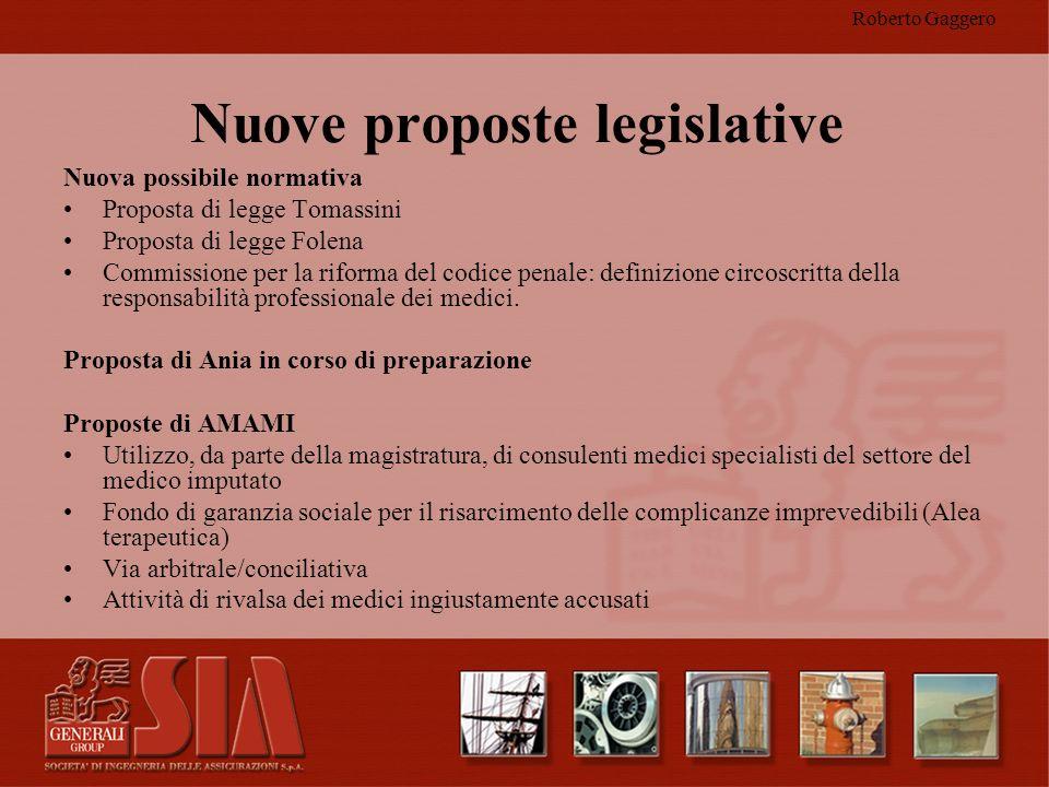 Roberto Gaggero Nuove proposte legislative Nuova possibile normativa Proposta di legge Tomassini Proposta di legge Folena Commissione per la riforma d