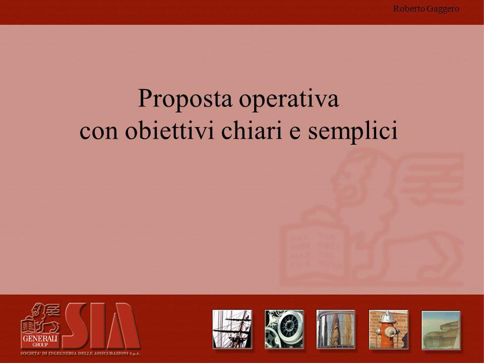 Roberto Gaggero Proposta operativa con obiettivi chiari e semplici