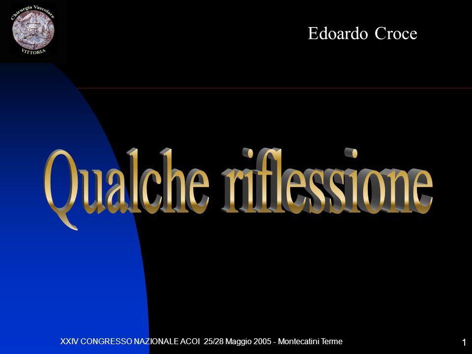 XXIV CONGRESSO NAZIONALE ACOI 25/28 Maggio 2005 - Montecatini Terme 1 Edoardo Croce
