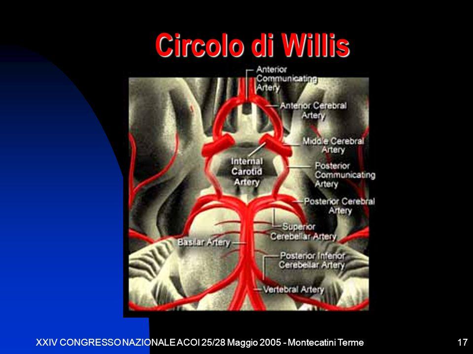 XXIV CONGRESSO NAZIONALE ACOI 25/28 Maggio 2005 - Montecatini Terme17 Circolo di Willis
