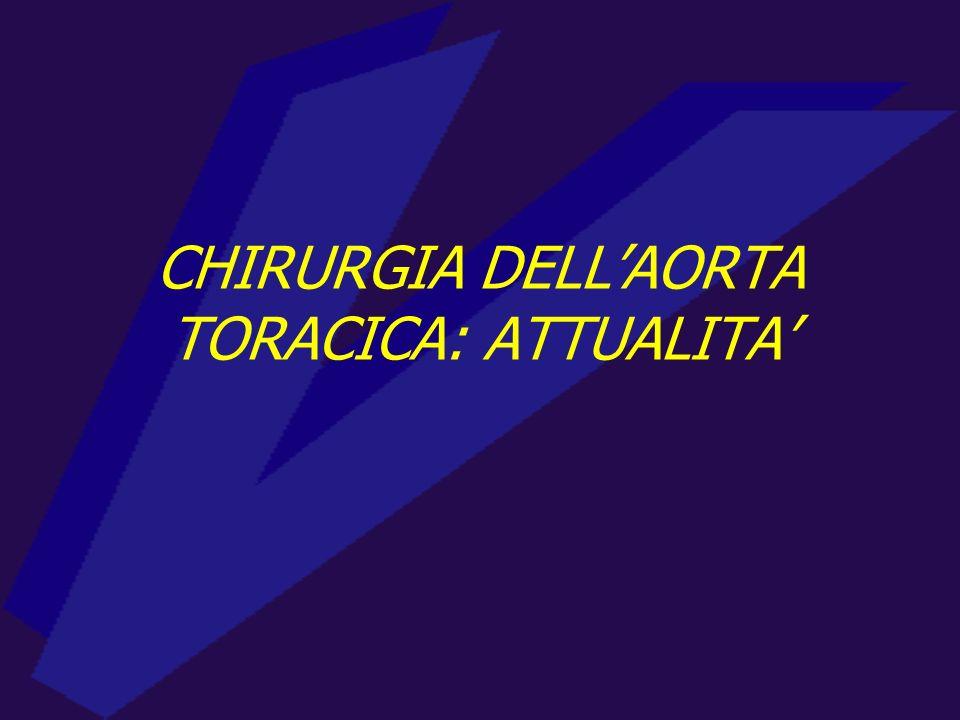 CHIRURGIA DELLAORTA TORACICA: ATTUALITA
