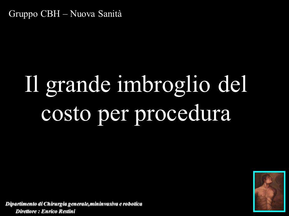 Dipartimento di Chirurgia generale,mininvasiva e robotica Direttore : Enrico Restini Direttore : Enrico Restini Gruppo CBH – Nuova Sanità Il grande im
