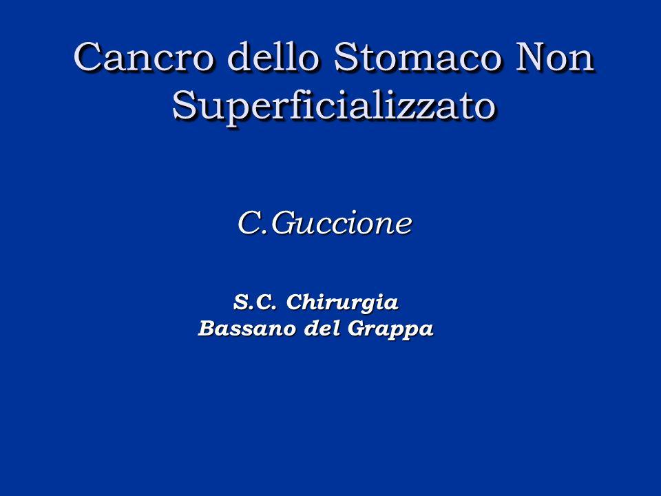 Cancro dello Stomaco Non Superficializzato C.Guccione S.C. Chirurgia Bassano del Grappa