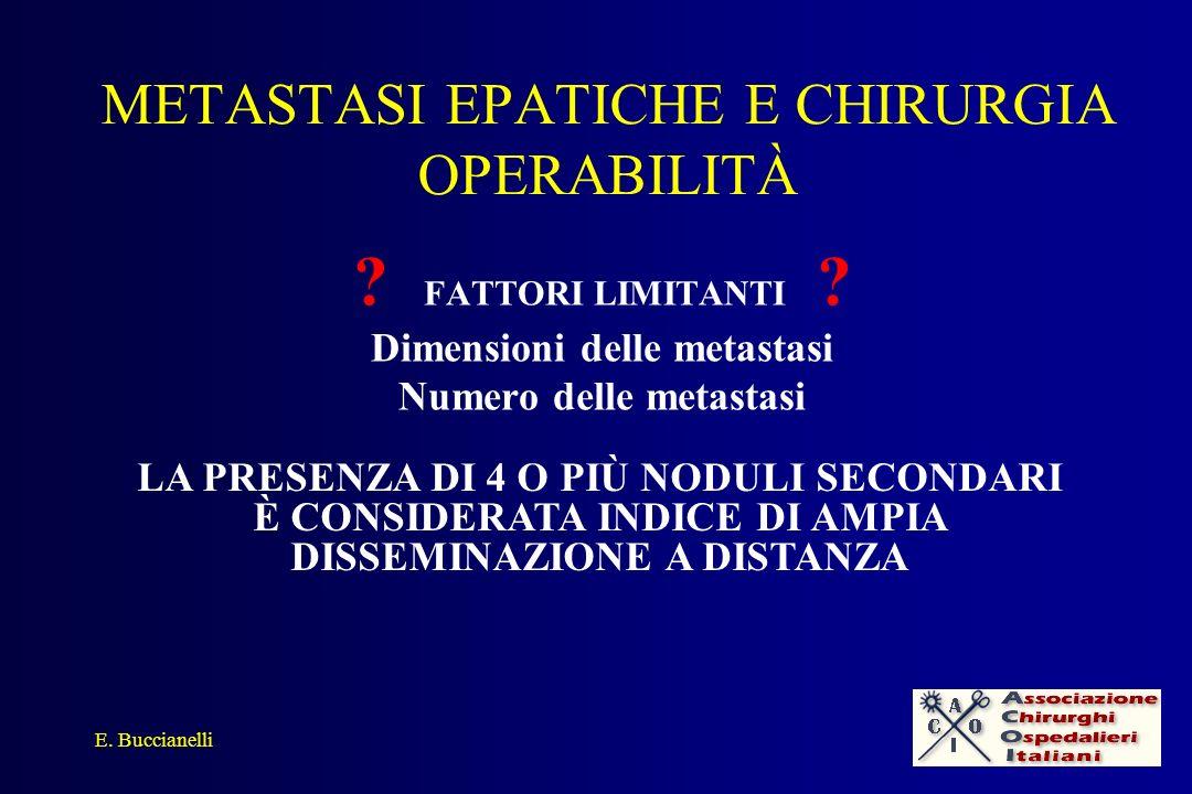 METASTASI EPATICHE E CHIRURGIA LIMITI E.
