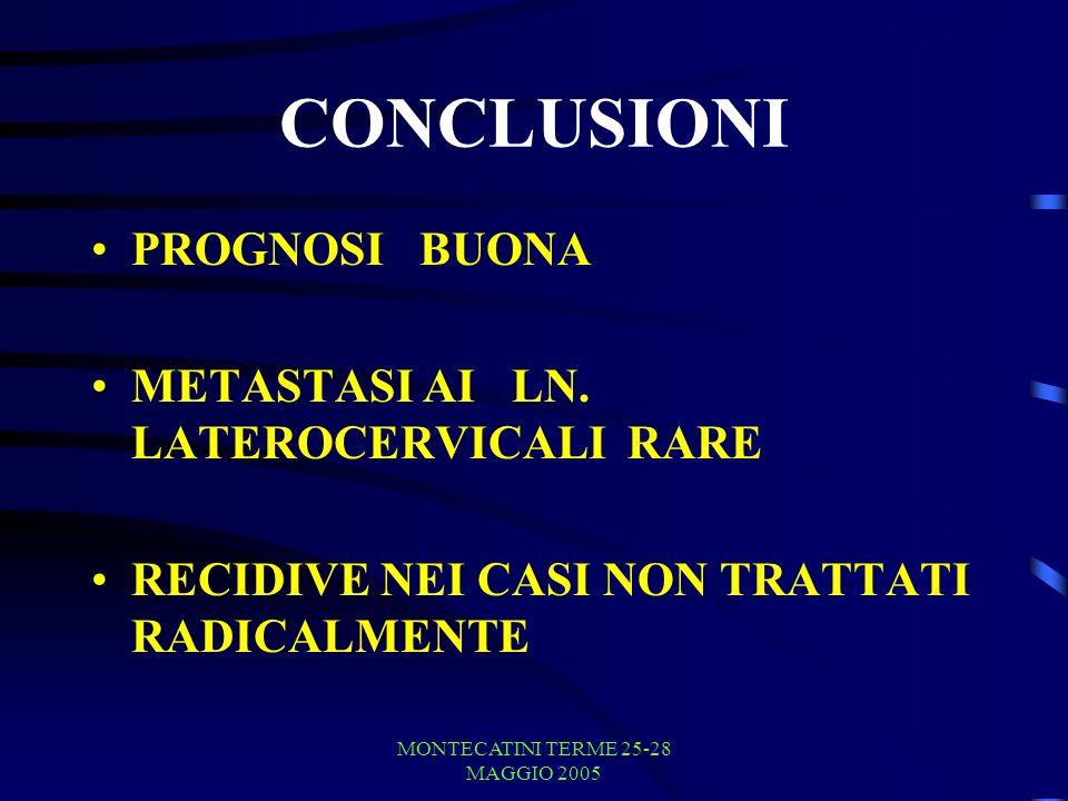 MONTECATINI TERME 25-28 MAGGIO 2005 CONCLUSIONI PROGNOSI BUONA METASTASI AI LN.