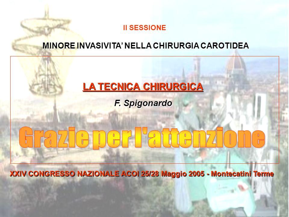 MINORE INVASIVITA NELLA CHIRURGIA CAROTIDEA II SESSIONE MINORE INVASIVITA NELLA CHIRURGIA CAROTIDEA MINORE INVASIVITA NELLA CHIRURGIA CAROTIDEA LA TEC