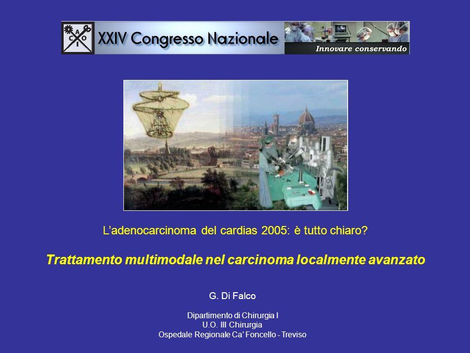 Ladenocarcinoma del cardias 2005: è tutto chiaro.