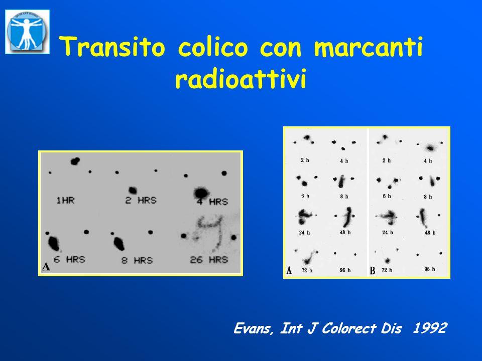 Transito colico con marcanti radioattivi Evans, Int J Colorect Dis 1992