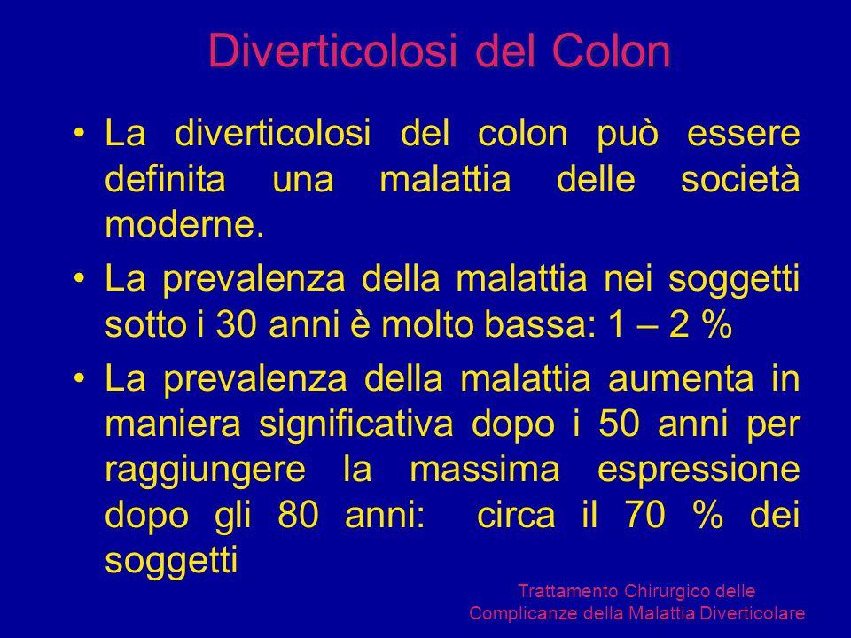La diverticolosi del colon può essere definita una malattia delle società moderne. La prevalenza della malattia nei soggetti sotto i 30 anni è molto b