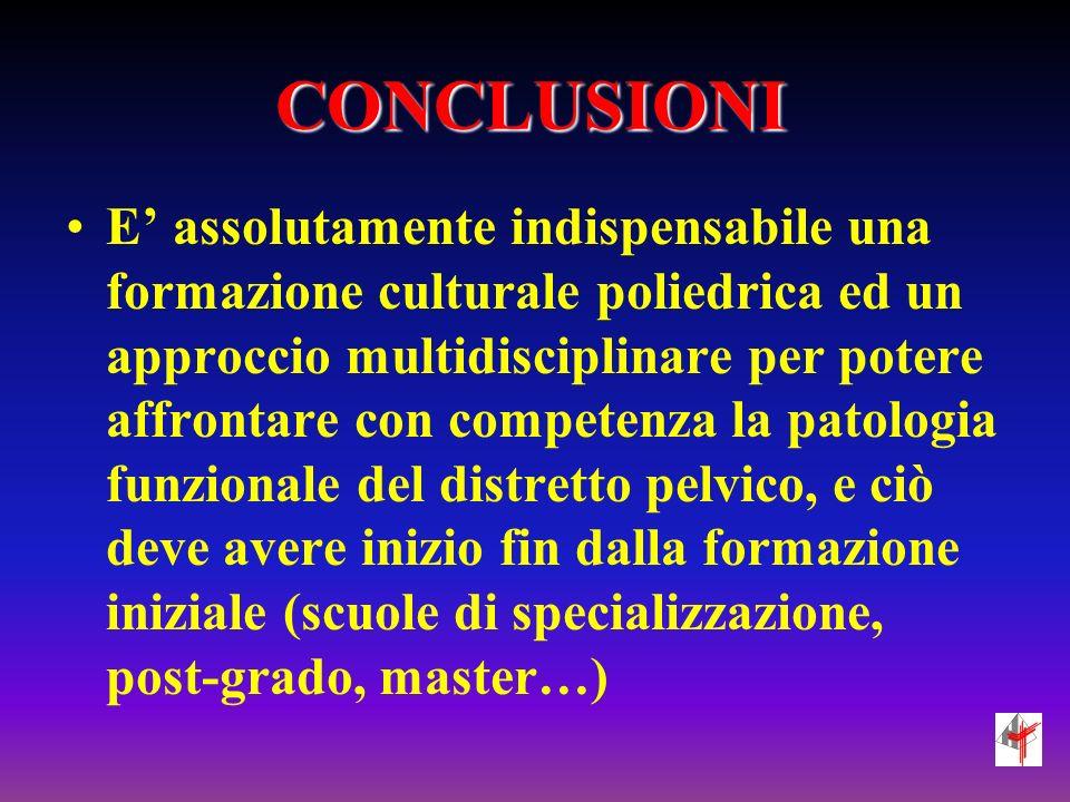 CONCLUSIONI E assolutamente indispensabile una formazione culturale poliedrica ed un approccio multidisciplinare per potere affrontare con competenza