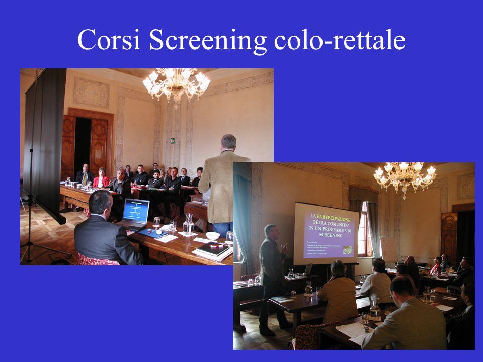 Corsi Screening colo-rettale
