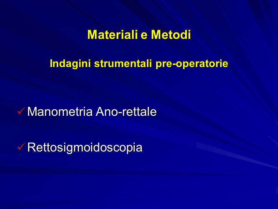 Materiali e Metodi Valutazione quantitativa del dolore V.N.S.