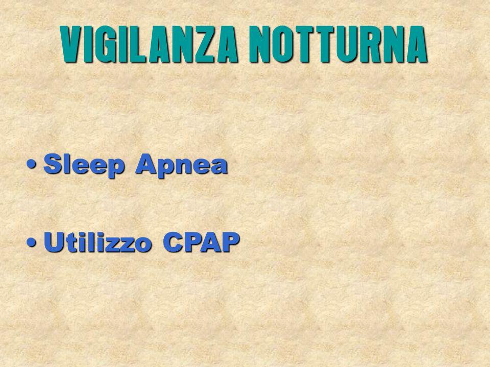 Sleep ApneaSleep Apnea Utilizzo CPAPUtilizzo CPAP VIGILANZA NOTTURNA