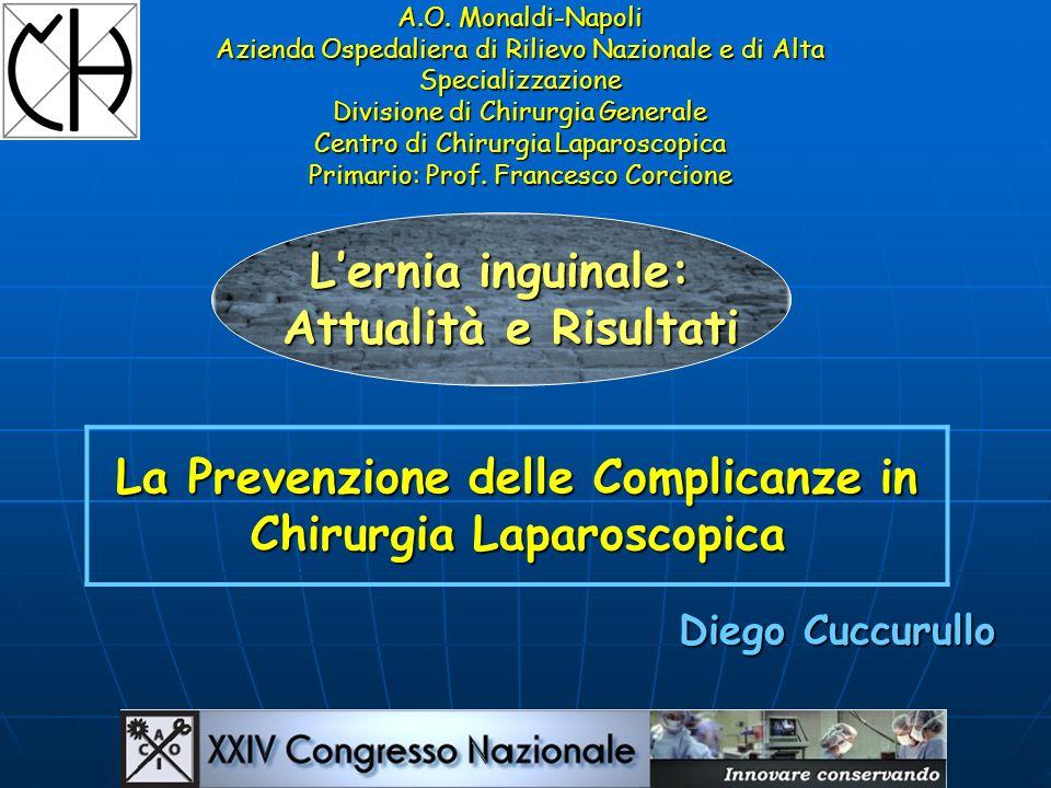 A.O. Monaldi-Napoli Azienda Ospedaliera di Rilievo Nazionale e di Alta Specializzazione Divisione di Chirurgia Generale Centro di Chirurgia Laparoscop