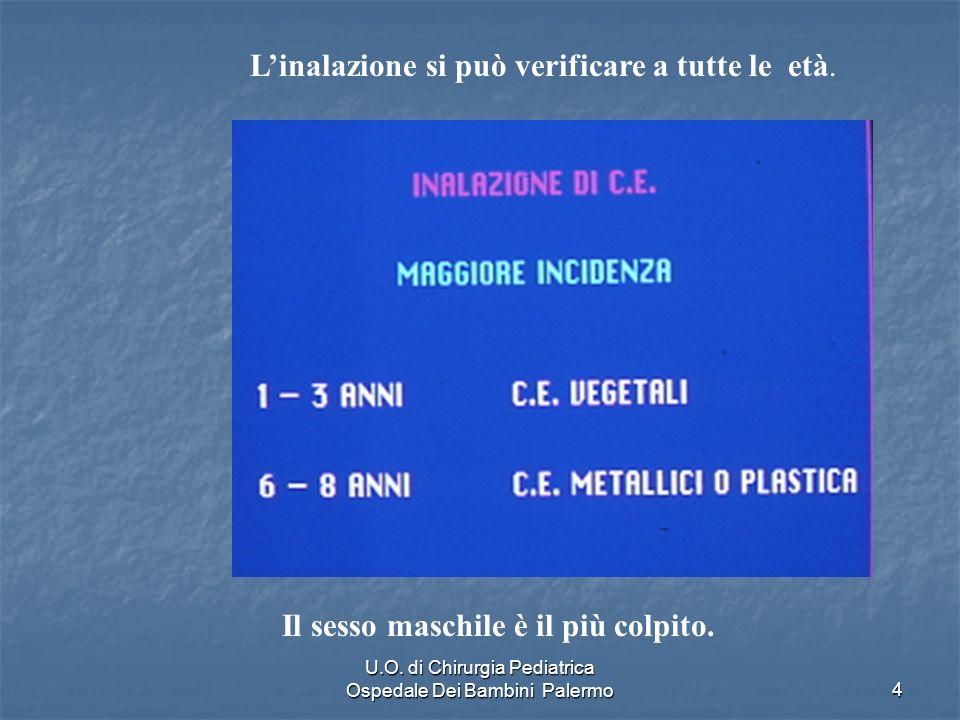 U.O.di Chirurgia Pediatrica Ospedale Dei Bambini Palermo25 Endoscopia urgente C.E laringeo C.E.