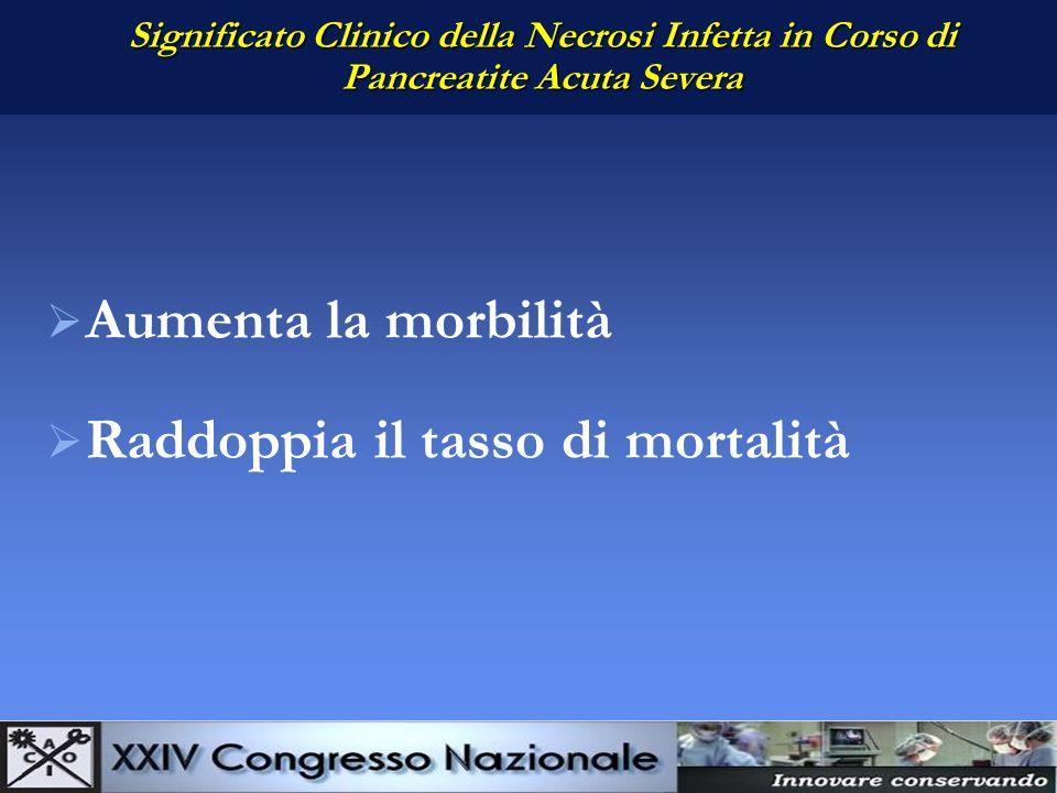 Obiettivi Clinici Prevenzione della infezione della necrosi Diagnosi precoce della necrosi infetta Trattamento mirato della necrosi infetta