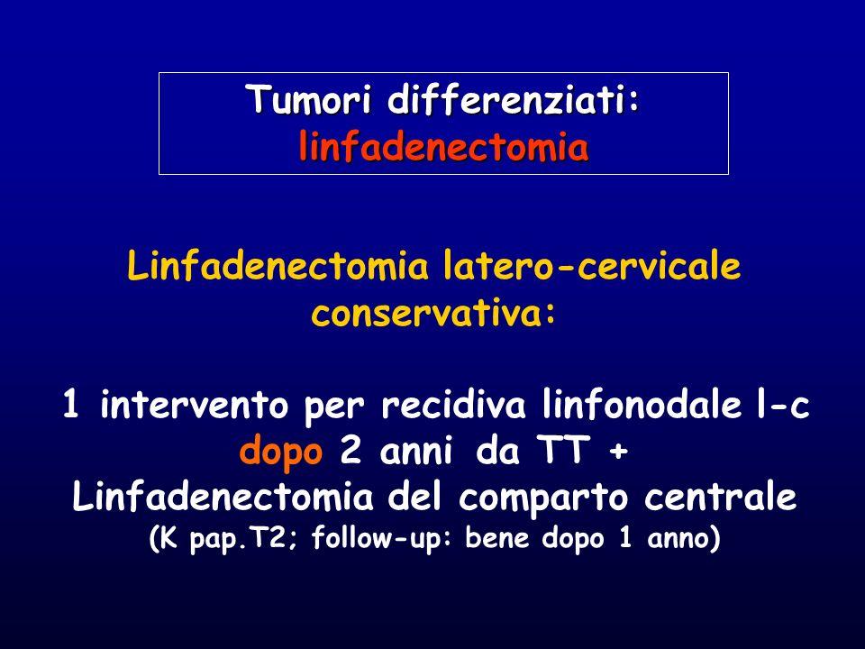 Linfadenectomia latero-cervicale conservativa: 1 intervento per recidiva linfonodale l-c dopo 2 anni da TT + Linfadenectomia del comparto centrale (K