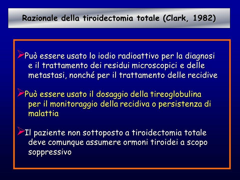Può essere usato lo iodio radioattivo per la diagnosi Può essere usato lo iodio radioattivo per la diagnosi e il trattamento dei residui microscopici