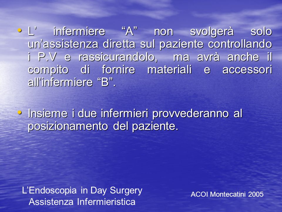 Controllo della cartella clinica - Esami ematici - Esami strumentali - Consenso informato (firmato?) - Scheda anestesista ACOI Montecatini 2005 LEndos