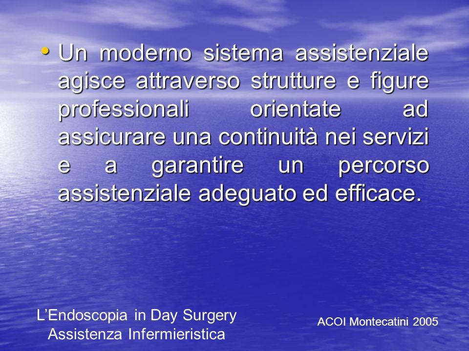 Lendoscopia in Day Surgery Assistenza Infermieristica Endoscopia digestiva Azienda Ospedaliera Universitaria Careggi Firenze Francesca Meacci ACOI Mon