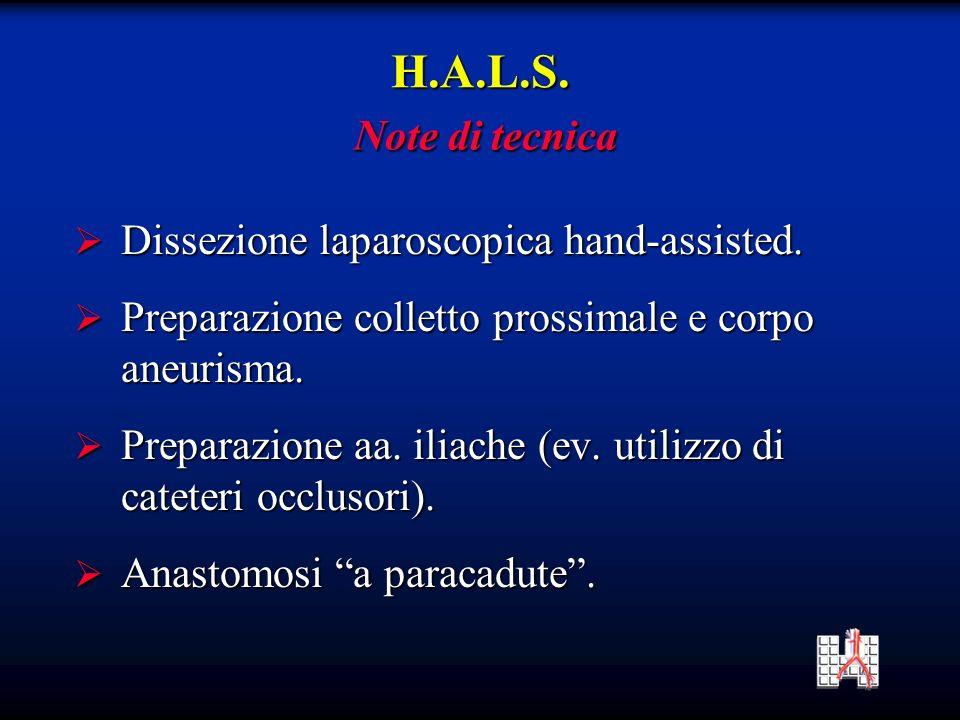 Dissezione laparoscopica hand-assisted.Dissezione laparoscopica hand-assisted.
