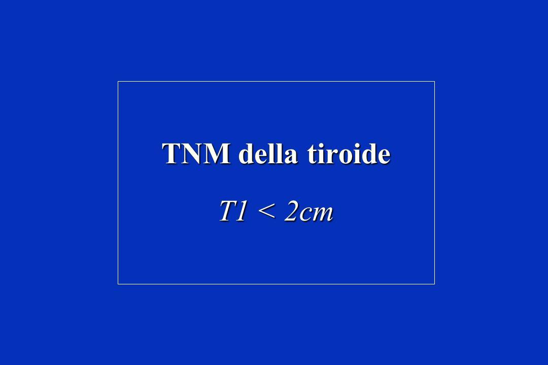 TNM della tiroide T1 < 2cm