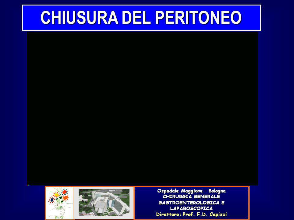 CHIUSURA DEL PERITONEO Ospedale Maggiore – Bologna CHIRURGIA GENERALE GASTROENTEROLOGICA E LAPAROSCOPICA Direttore: Prof. F.D. Capizzi