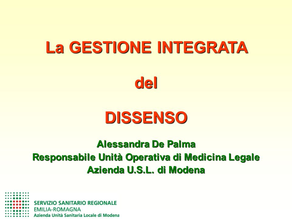 Alessandra De Palma Responsabile Unità Operativa di Medicina Legale Azienda U.S.L.