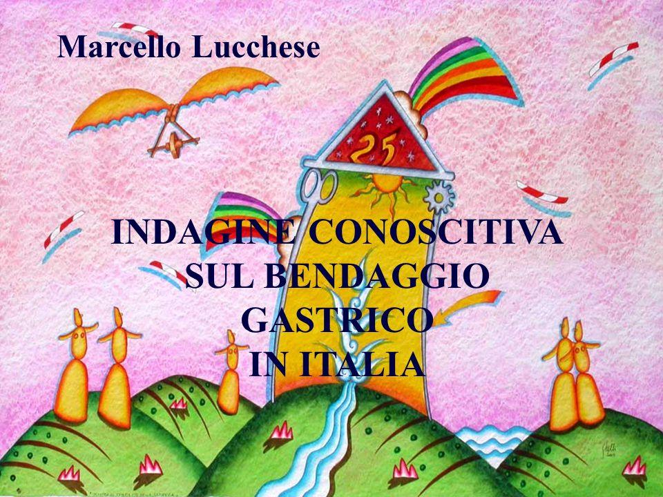 INDAGINE CONOSCITIVA SUL BENDAGGIO GASTRICO IN ITALIA Marcello Lucchese