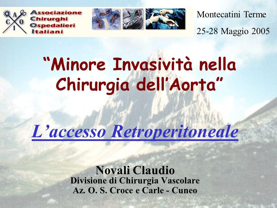 Minore Invasività nella Chirurgia dellAorta Laccesso Retroperitoneale Novali Claudio Divisione di Chirurgia Vascolare Az.