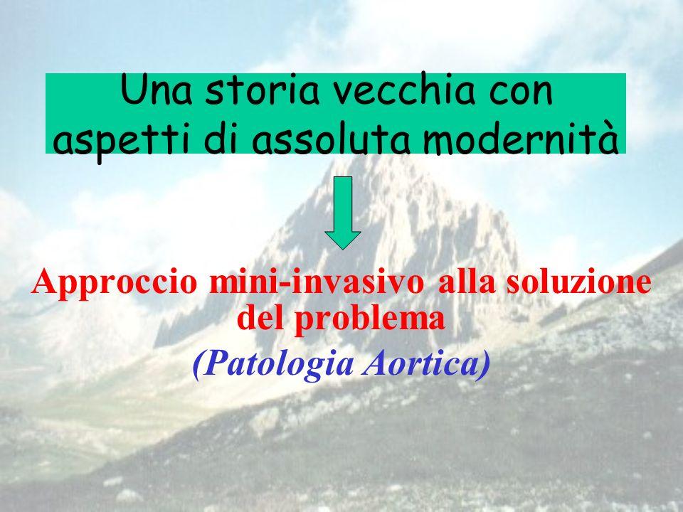 Una storia vecchia con aspetti di assoluta modernità Approccio mini-invasivo alla soluzione del problema (Patologia Aortica)