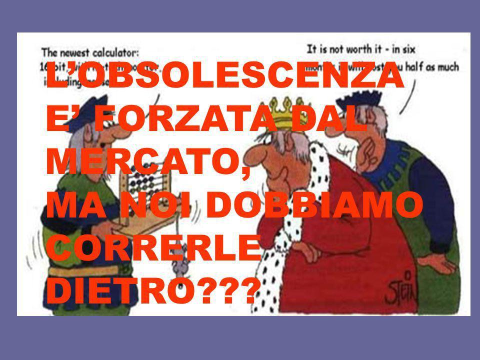 LOBSOLESCENZA E FORZATA DAL MERCATO, MA NOI DOBBIAMO CORRERLE DIETRO???