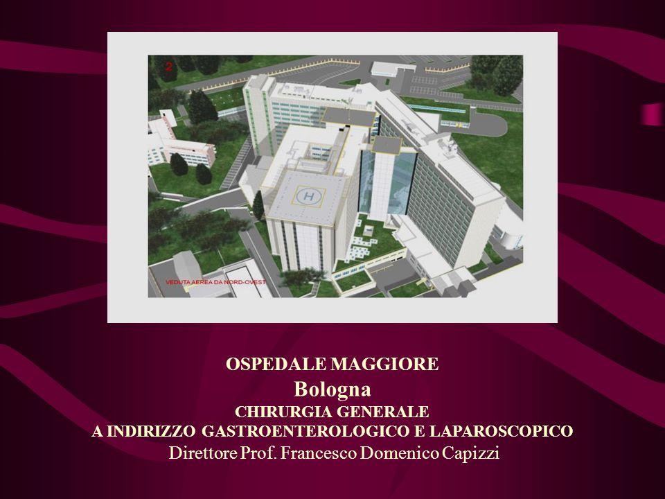 OSPEDALE MAGGIORE Bologna CHIRURGIA GENERALE A INDIRIZZO GASTROENTEROLOGICO E LAPAROSCOPICO Direttore Prof. Francesco Domenico Capizzi
