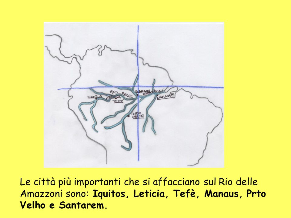 Le città più importanti che si affacciano sul Rio delle Amazzoni sono: Iquitos, Leticia, Tefè, Manaus, Prto Velho e Santarem.