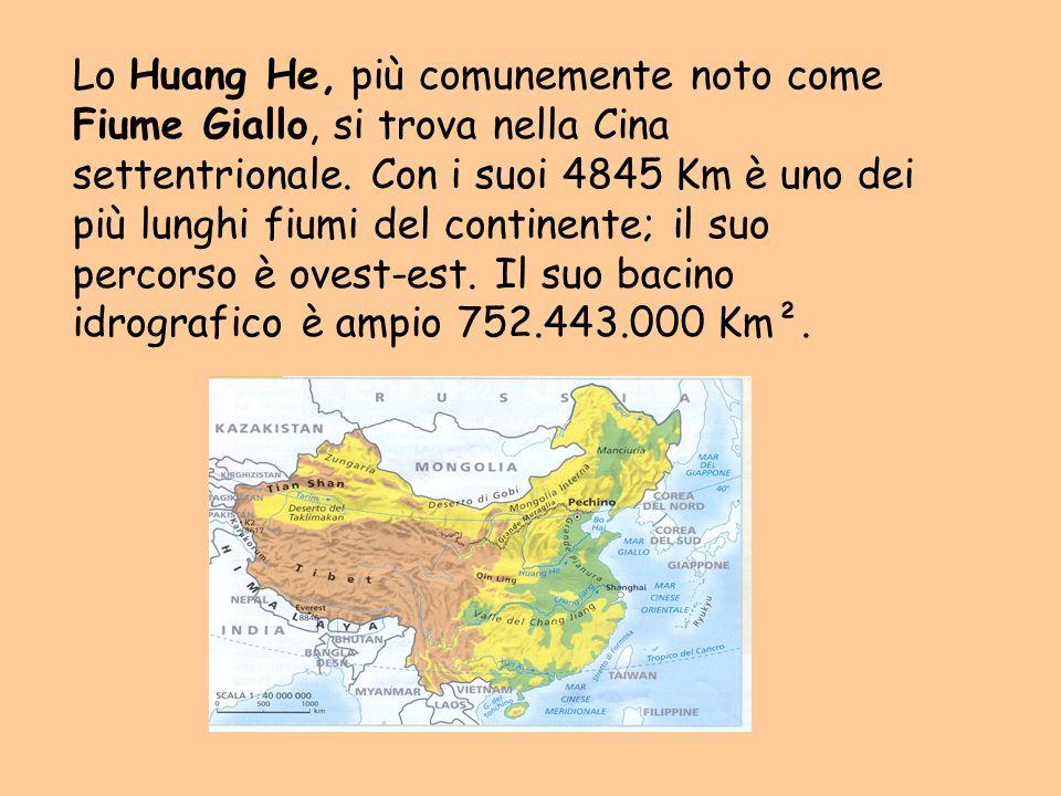 Lo Huang He nasce sull altipiano del Tibet, prende direzione nord-ovest e si addentra nel deserto di Gobi.